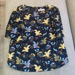 Floral loft work blouse, size medium